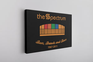 Spectrum Stadium Canvas | The Spectrum Stadium Black Wall Canvas the front of this canvas has the spectrum