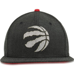 Toronto Raptors Heathered Charcoal Metallic Logo 9Fifty Snapback Hat