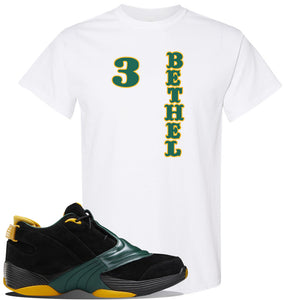 Answer 5 Bethel High Sneaker White T Shirt | Tees to match Reebok Answer 5 Bethel High Shoes | Sweater Bear
