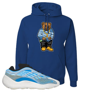 Yeezy 700 v3 Azareth Hoodie | Royal Blue, Sweater Bear