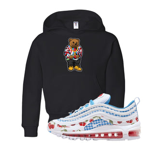 Air Max 97 GS SE Cherry Kids Pullover Hoodie | Sweater Bear, Black