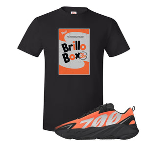 Brillo Box Black T-Shirt to match Yeezy Boost 700 MNVN Orange Sneaker