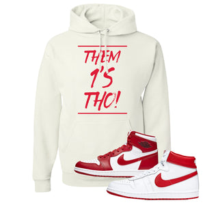 Jordan 1 New Beginnings Pack Sneaker White Pullover Hoodie | Hoodie to match Nike Air Jordan 1 New Beginnings Pack Shoes | Them 1's Tho