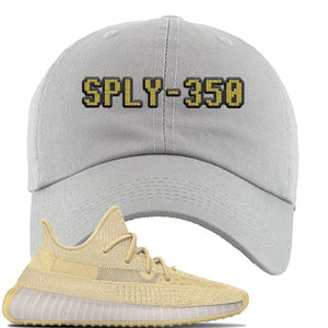 Yeezy Boost 350 V2 Flax Sneaker Light Gray Dad Hat | Hat to match Adidas Yeezy Boost 350 V2 Flax Shoes | Sply-350