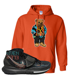 Kyrie 6 Eleven Hoodie | Orange, Sweater Bear