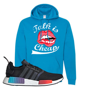NMD R1 Gradient Hoodie | Heather Sapphire, Talk is Cheap