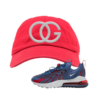 Air Max 270 React ENG Mystic Navy Dad Hat | OG, Red