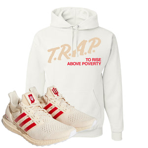 Adidas Ultra Boost 1.0 Indiana Pullover Hoodie | Trap To Rise Above Poverty, White