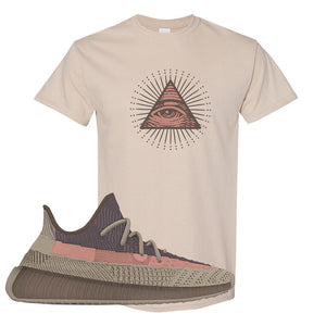 Yeezy 350 v2 Ash Stone T Shirt | All Seeing Eye, Sand