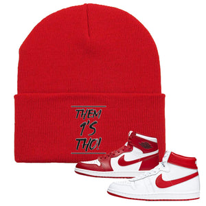Jordan 1 New Beginnings Pack Sneaker Red Beanie | Beanie to match Nike Air Jordan 1 New Beginnings Pack Shoes | Them 1's Tho