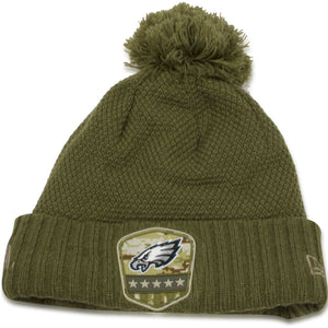 Philadelphia Eagles 2019 Salute To Service On Field Women's Knit Beanie