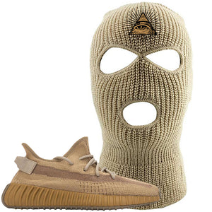 Yeezy Boost 350 V2 Earth Sneaker Ski Mask To Match | All Seeing Eye, Khaki