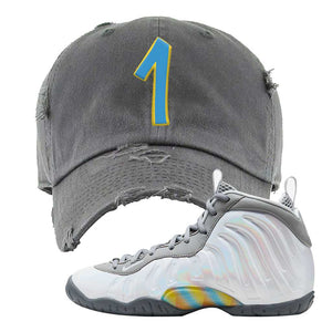 Lil Posite One Rainbow Pixel Distressed Dad Hat | Dark Gray, Penny One