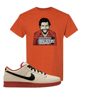 SB Dunk Low Muslin T Shirt | Escobar Illustration, Antique Orange