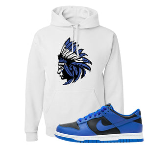 Dunk Low Hyper Cobalt Hoodie | Indian Chief, White