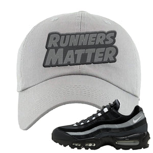 Air Max 95 Essential Black And Dark Smoke Grey Dad Hat | Runners Matter, Light Gray