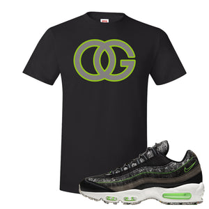 Air Max 95 Black / Electric Green T Shirt | OG, Black