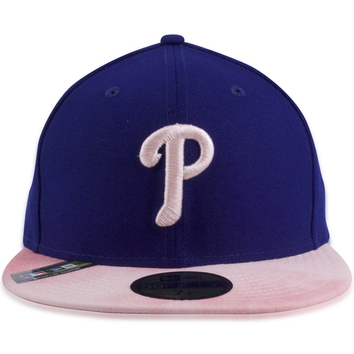 d2f1799e80fb7d Philadelphia Phillies 2019 Mother's Day Blue on Pink 59Fifty Fitted Cap