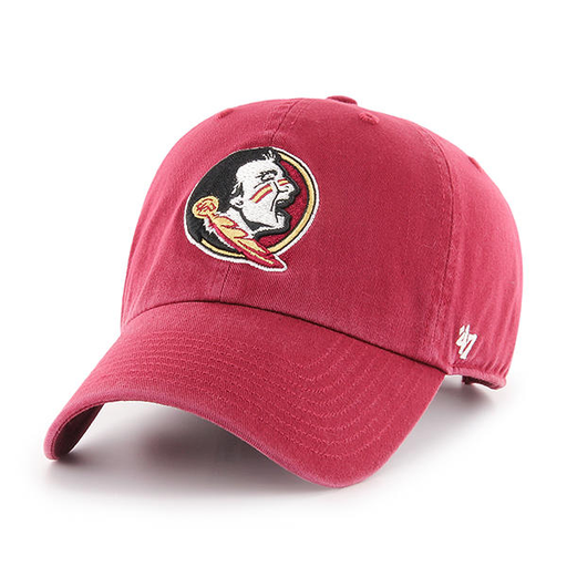 embroidered on the front of the Florida State University is the Seminoles logo