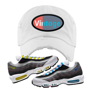 Air Max 95 QS Greedy Distressed Dad Hat | White, Vintage Oval