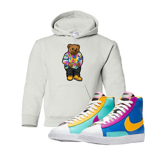 Blazer Mid Big Kids Hoodie | White, Sweater Bear