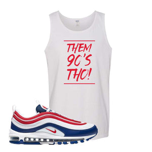 Air Max 97 USA Tank Top | White, Them 90's Tho