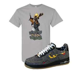 Air Force 1 Low Plaid And Camo Remix Pack T-Shirt | Dont Hate The Playa, Gravel