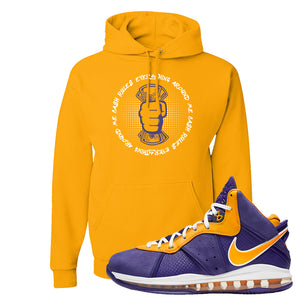 Lebron 8 Lakers Hoodie | Cash Rules Everything Around Me, Gold
