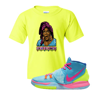Kyrie 6 Pool Kids T-Shirt | Oh My Goodness, Safety Green