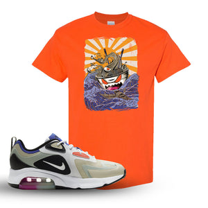 Air Max 200 WMNS Fossil Sneaker Orange T Shirt | Tees to match Nike Air Max 200 WMNS Fossil Shoes | Ramen Monster