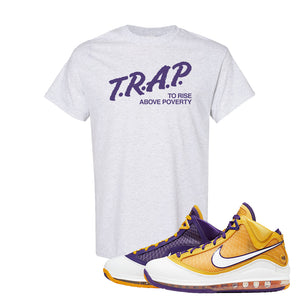 Lebron 7 'Media Day' T Shirt | Ash, Trap To Rise Above Poverty