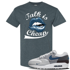 Air Max 1 'London City Pack' Sneaker Dark Heather T Shirt | Tees to match Nike Air Max 1 'London City Pack' Shoes | Talk is Cheap