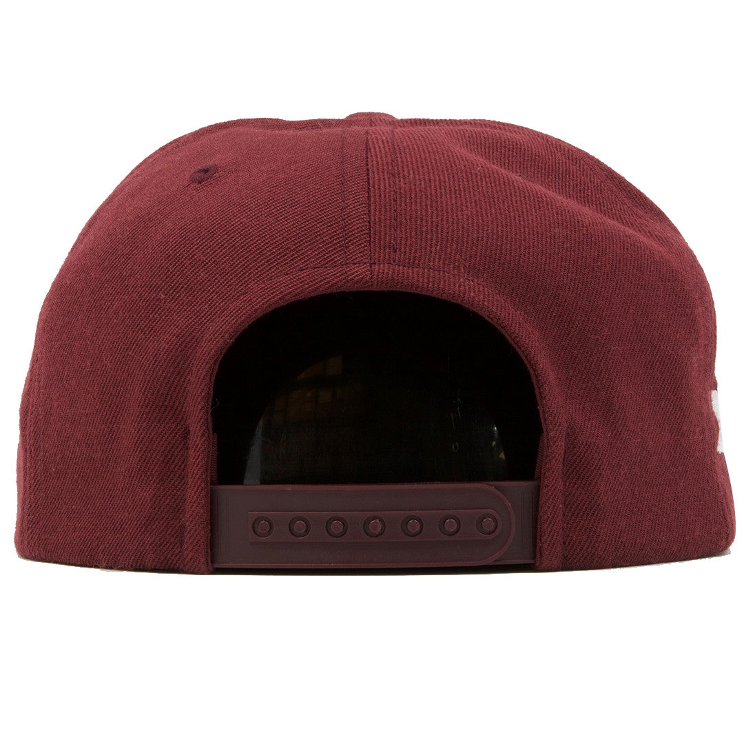 957735baeb6 ... the bullies retro jordan 6 maroon matching snapback hat has a maroon  snap on the back ...