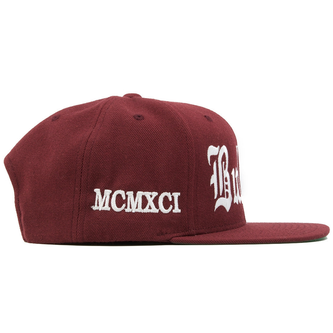 a52a16cbf7a ... hat has a maroon snap on the back  on the right side of the bullies  retro jordan 6 maroon matching snapback MCMXCI is embroidered ...