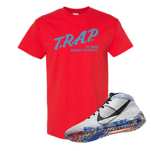 KD 13 Home T Shirt | Red, Trap To Rise Above Poverty