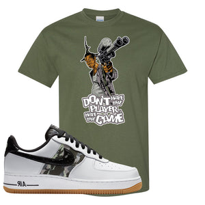 Air Force 1 Low Camo T Shirt | Don't Hate The Playa, Military Green