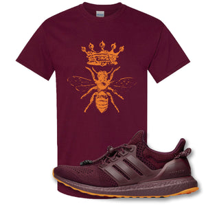 Royal Bee Crest Maroon T-Shirt to match Ivy Park X Adidas Ultra Boost Sneaker