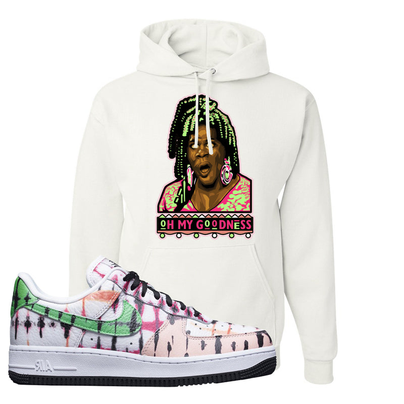 Air Force 1 Low Multi-Colored Tie-Dye Hoodie | White, Oh My Goodness