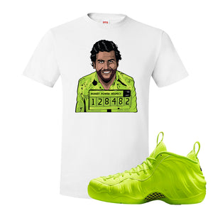 Air Foamposite Pro Volt T Shirt | Escobar Illustration, White