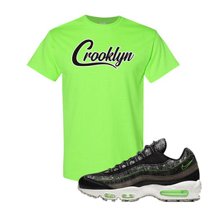 Air Max 95 Black / Electric Green T Shirt | Crooklyn, Neon Green