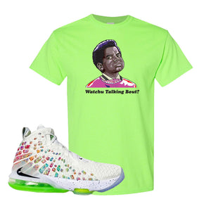 Lebron 17 Air Command Force T Shirt | Neon Green, Watcha Talking Bout
