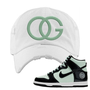 Dunk High All Star 2021 Distressed Dad Hat | OG, White