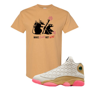 Jordan 13 Chinese New Year 2020 Army Rats Old Gold T-Shirt to match Jordan 13 Chinese New Year Sneaker