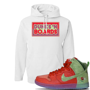 SB Dunk High 'Strawberry Cough' Hoodie | White, Dunks N Boards