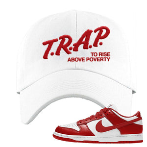 SB Dunk Low 'St. John's' Dad Hat | White, Trap To Rise Above Poverty