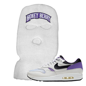 Air Max 1 DNA Series Sneaker White Ski Mask | Winter Mask to match Nike Air Max 1 DNA Series Shoes | Honey Berry Arch