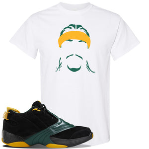 Answer 5 Bethel High Sneaker White T Shirt | Tees to match Reebok Answer 5 Bethel High Shoes | Headband Cornrows
