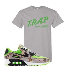 Air Max 90 Duck Camo Ghost Green T Shirt | Gravel, Trap To Rise Above Poverty