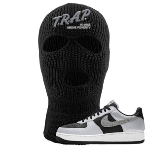 Air Force 1 3M Snake Ski Mask | Trap To Rise Above Poverty, Black
