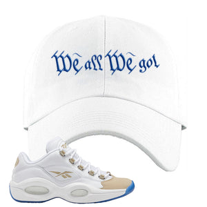 Reebok Question Low Oatmeal Dad Hat | Royal Blue, Trap To Rise Above Poverty